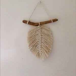 Other - Handmade Macrame leaf hanging